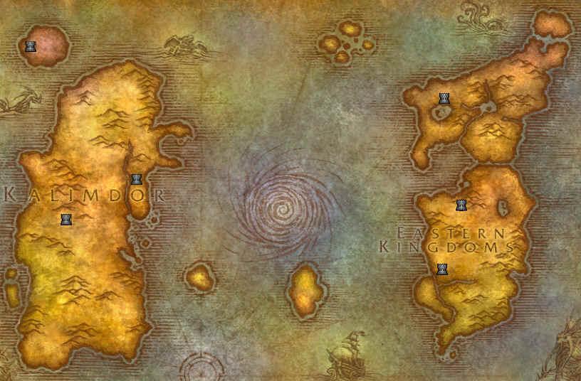 WOW map world