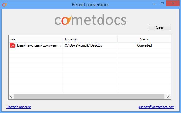Cometdocs for desktop