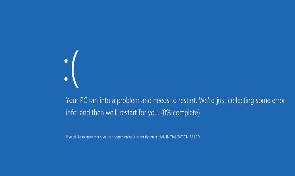 что значит синий экран на компьютере