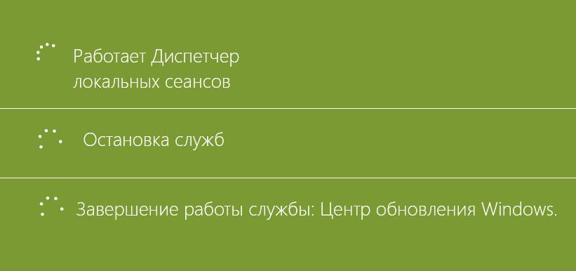 Фазы выключения Windows