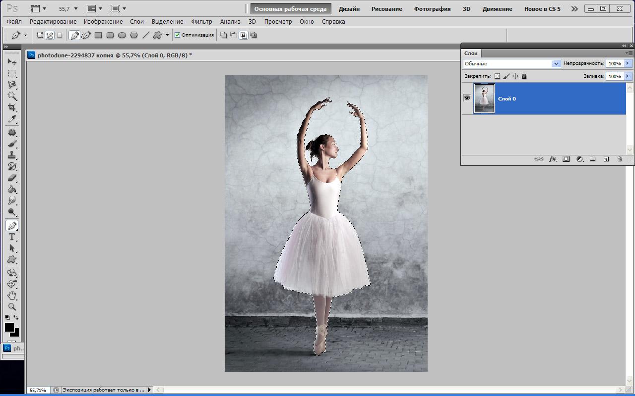 Как сделать контур из изображения в фотошопе