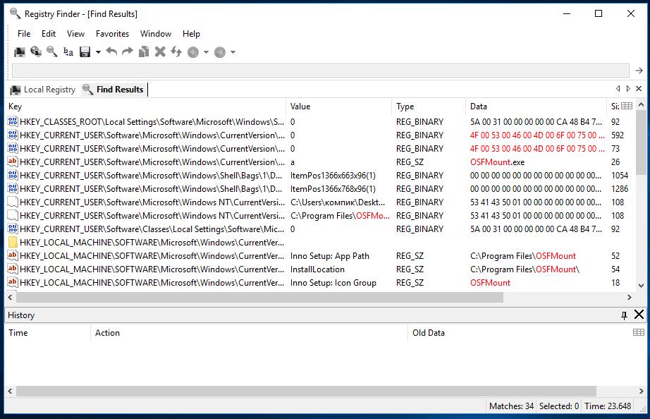 Registry Finder