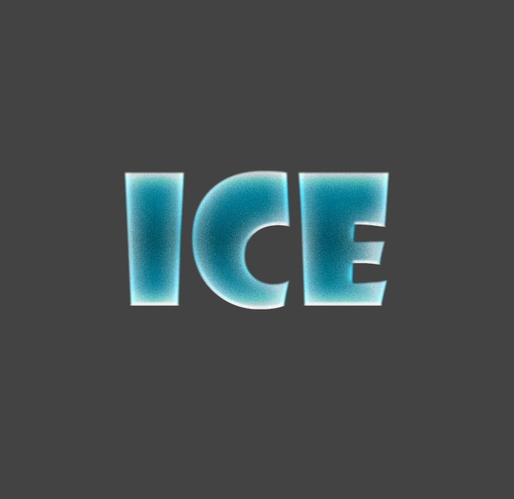 Ice text in Photoshop