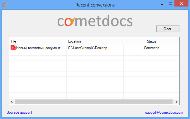 Cometdocs for desktop