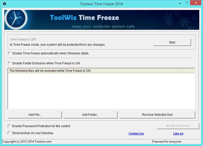 Toolwiz TimeFreeze 2014