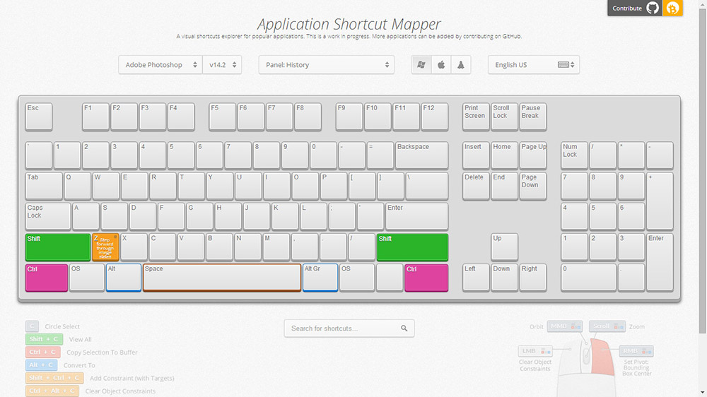Application Shortcut Mapper