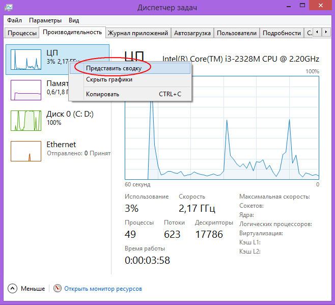 Диспетчер задач Windows 8.1