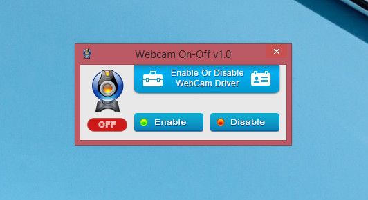 Утилита WebCam on – Off