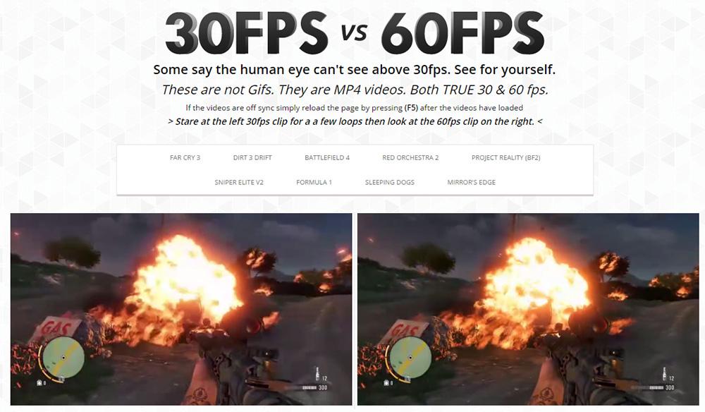 24 FPS против 60 FPS