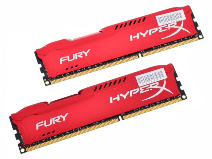 Kingston HyperX Fury Red Series CL10 Kit of 2