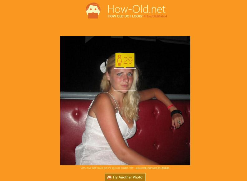 определение возраста по фото microsoft