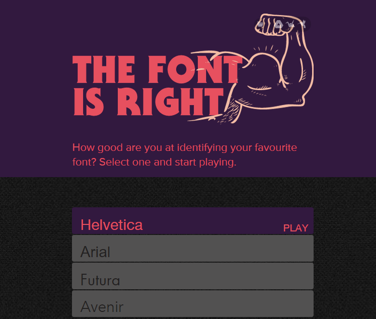 The Font Is Right
