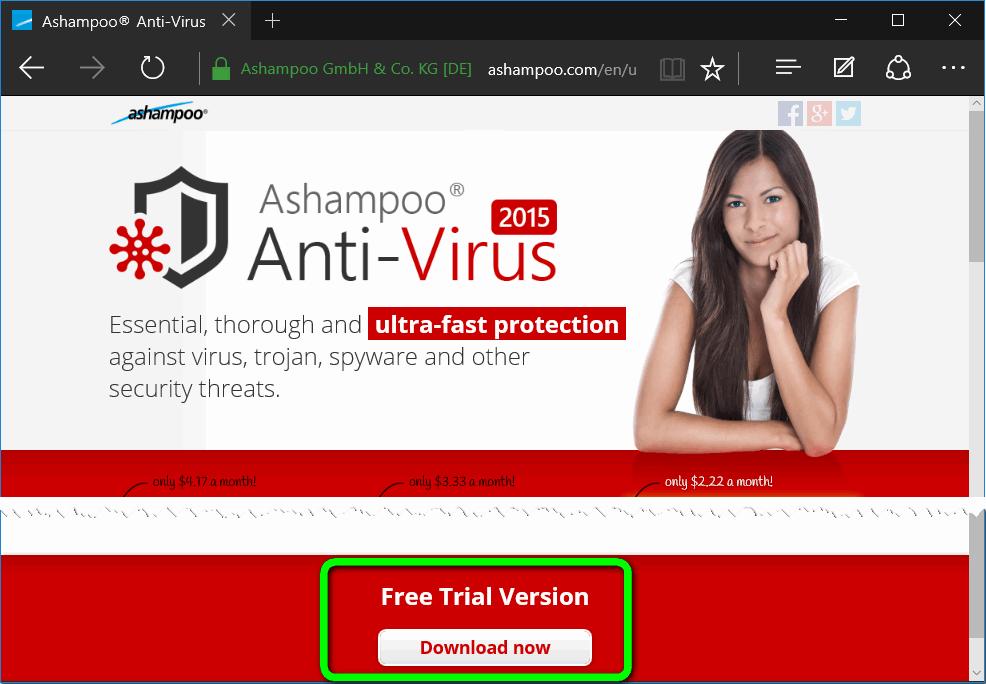 Пробная версия антивируса