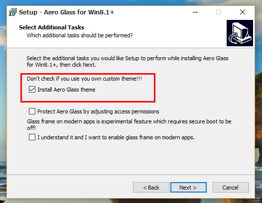 Aero Glass for Win8.1+