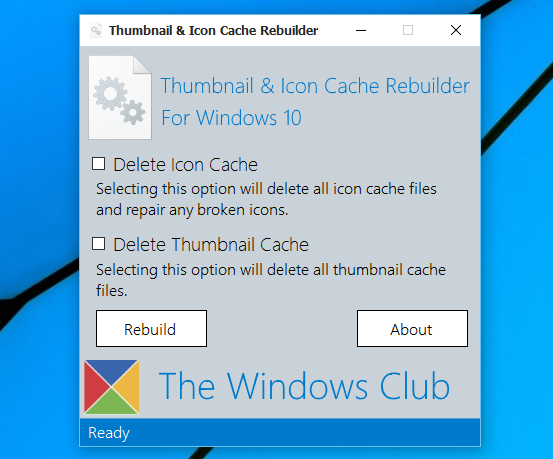 Thumbnail and Icon Cache Rebuilder