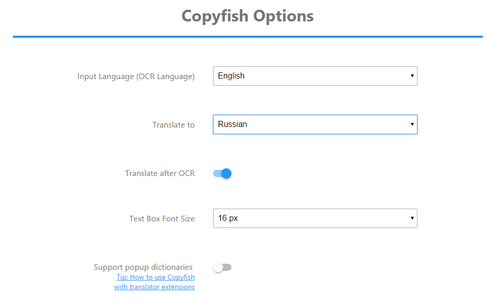Copyfish Free OCR Software