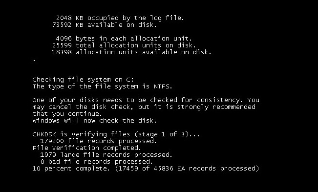 Проверка диска на ошибки