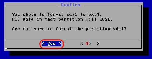 Запускаем процесс форматирования