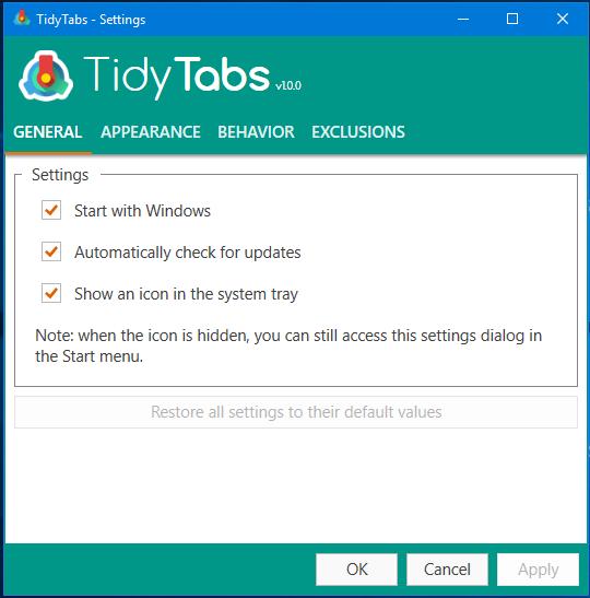 TidyTabs