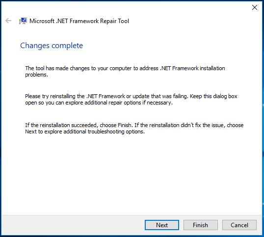 Microsoft .NET Framework Repair Tool