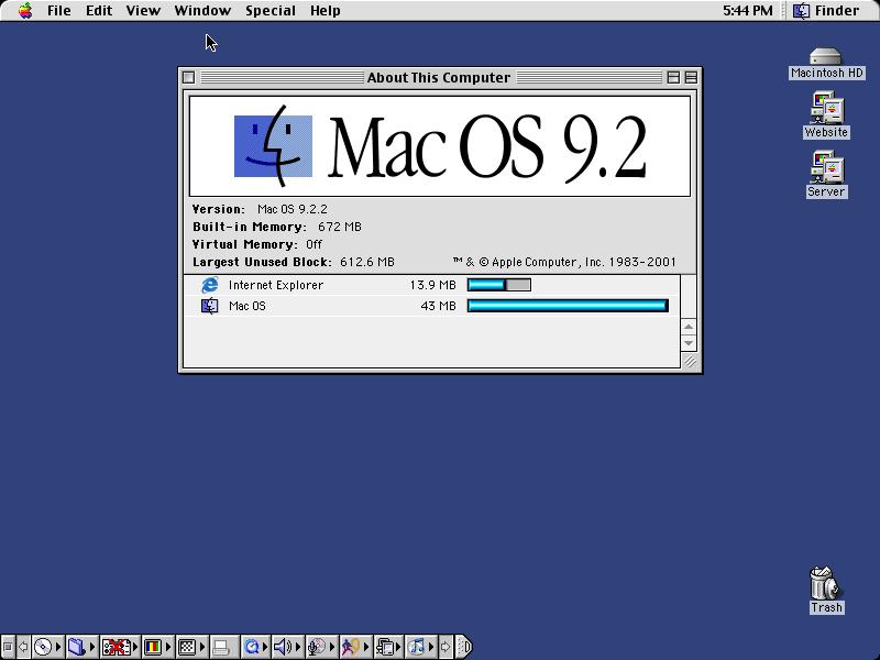 MacOS 9.2.2