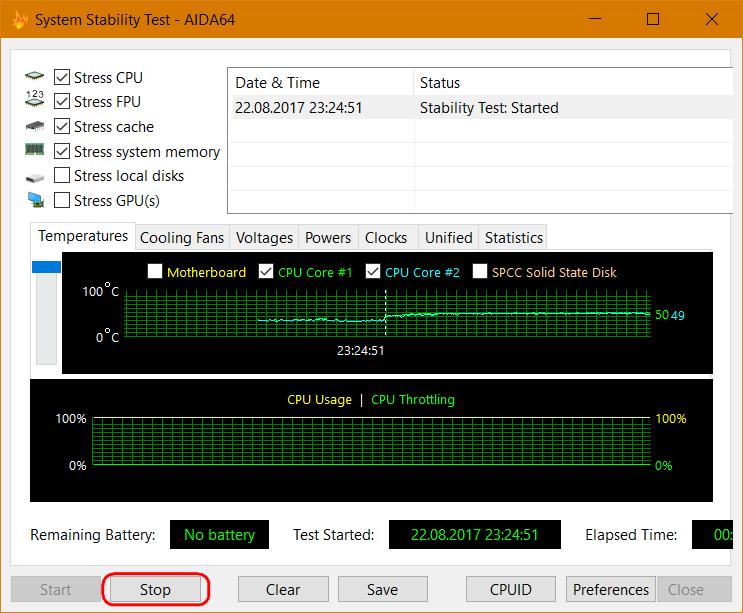 Стресс-тестирование CPU