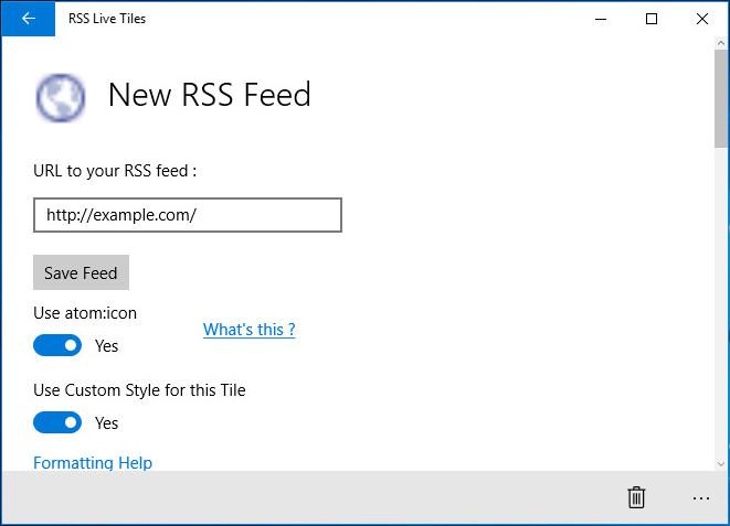 RSS Live Tiles