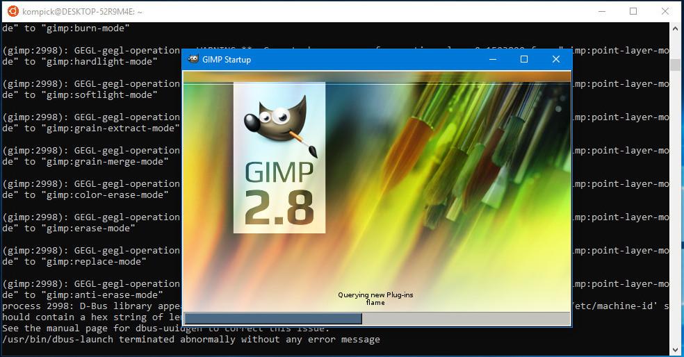 Gimp loading