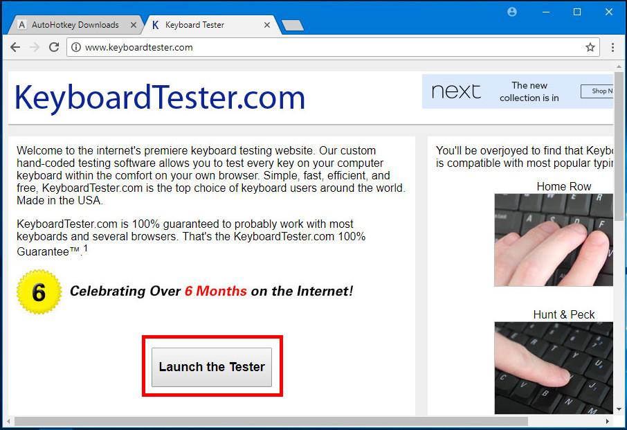 Онлайновый тестер клавиатуры