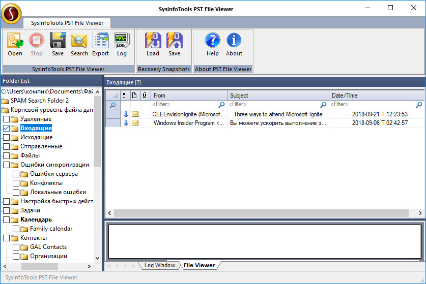 SysInfoTools PST File Viewer