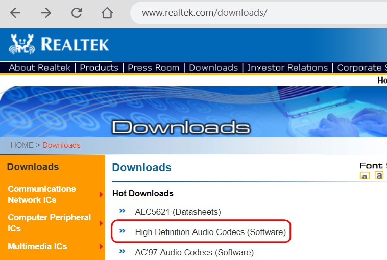 High Definition Audio Codecs