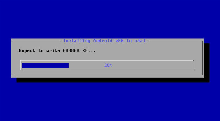 Installing Android-x86 to sda1