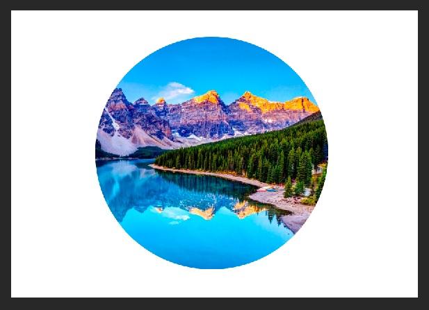Картинка природы в виде круга
