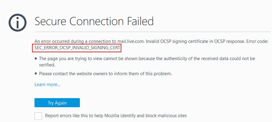 SEC_ERROR_OCSP_INVALID_SIGNING_CERT