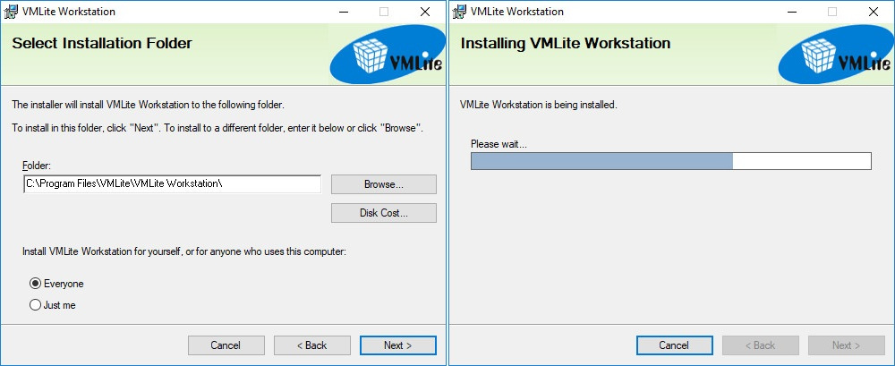 VMLite Workstation installation