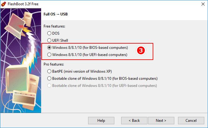 Full OS -> USB