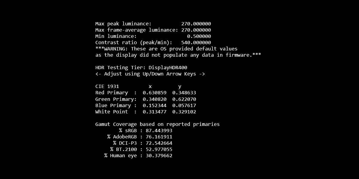 DisplayHDR Text