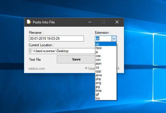 Paste Into File