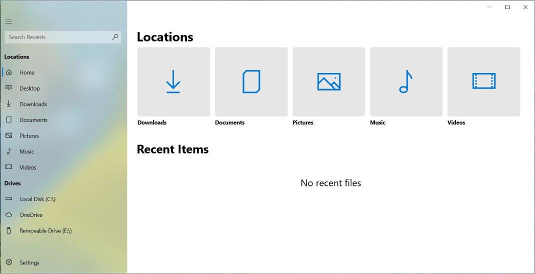 Files UWP