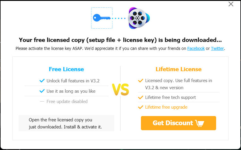 Free licensed copy of VideoProc