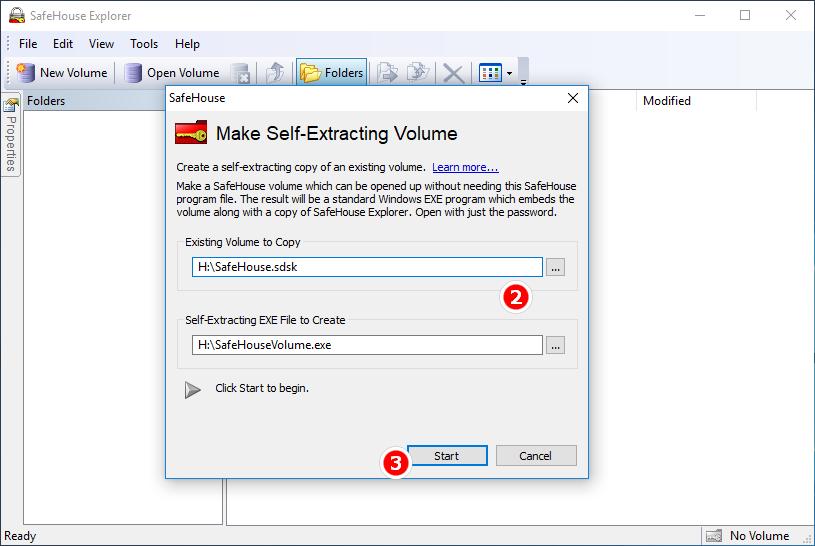 Make Self-Extracting Volume