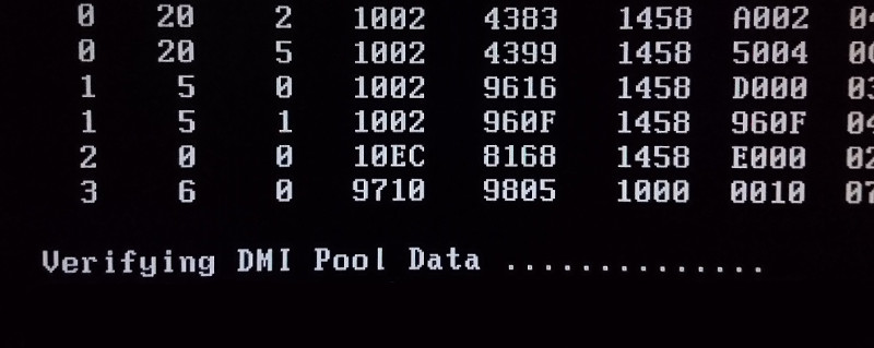 Verifying DMI Pool Data