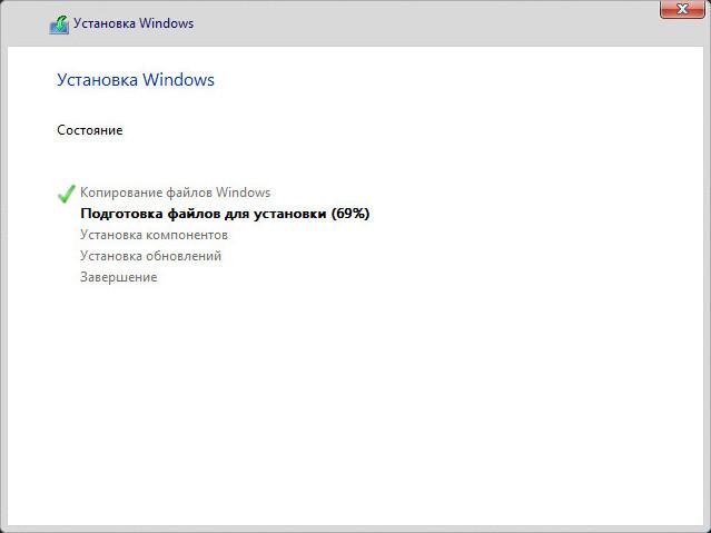 Процедура переустановки Windows