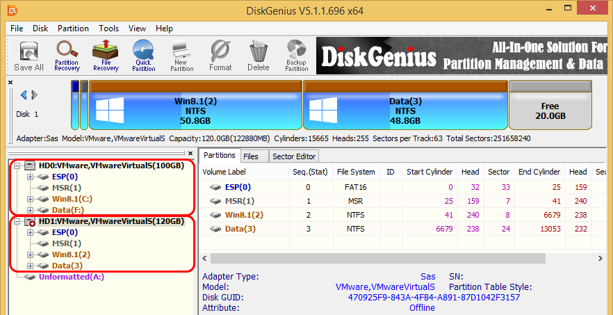 DiskGenius V5.1