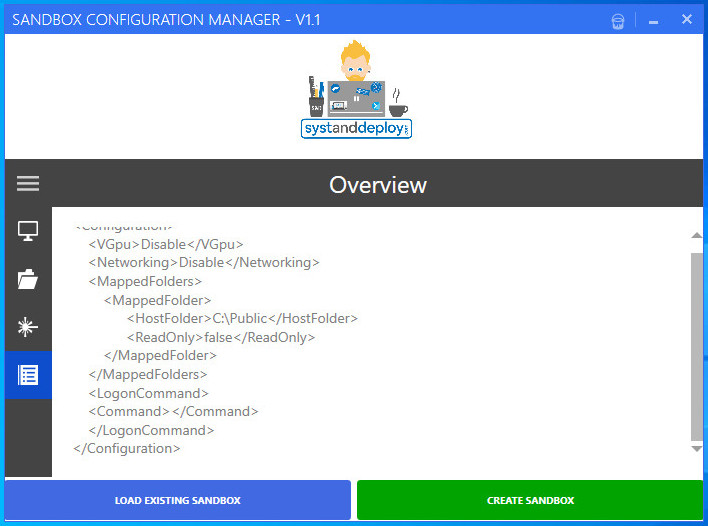 Sandbox Configuration Manager