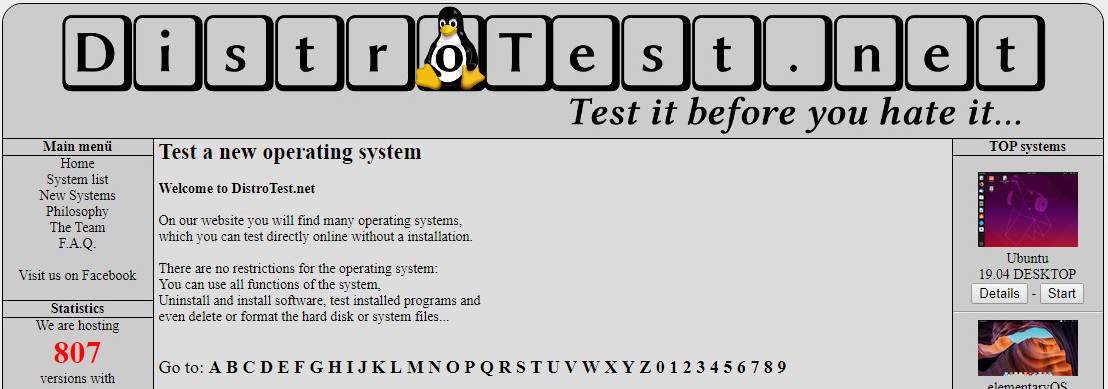 DistroTest.net
