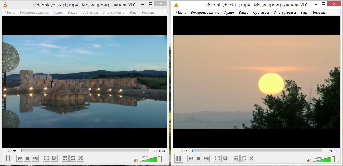 Два плеера VLC