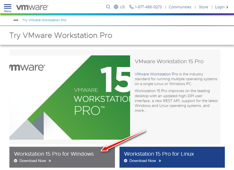 Try VMware Workstation Pro