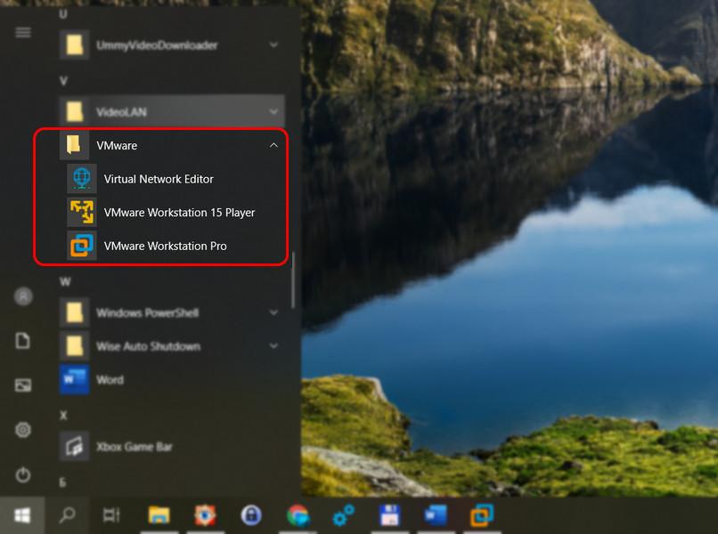 Пуск - VMware
