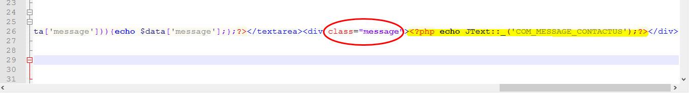 Ссылка с class - message